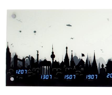 Ilginç gökyüzü skyline duvar saatleri tasarımcı j p